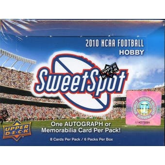 2010 Upper Deck NCAA Sweet Spot Football Hobby Box