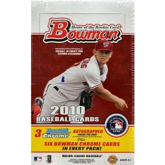 2010 Bowman Baseball Jumbo Box