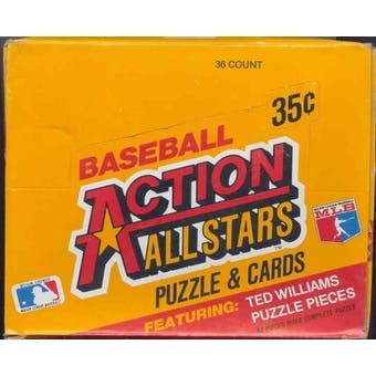 1984 Donruss Action All Stars Baseball Wax Box
