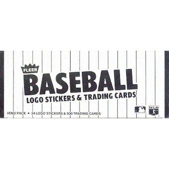 1984 Fleer Baseball Vending Box (Reed Buy)