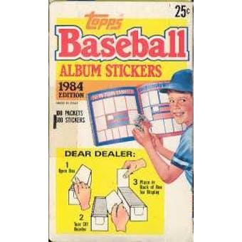 1984 Topps Album Stickers Baseball Wax Box