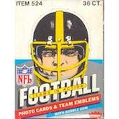 1984 Fleer in Action Football Wax Box (Reed Buy)