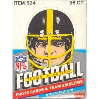 1984 Fleer in Action Football Wax Box