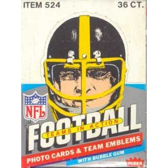 1984 Fleer in Action Football Wax Box (Reed Buy)