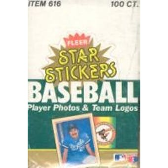 1984 Fleer Star Stickers Baseball Wax Box