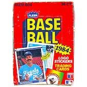 1984 Fleer Baseball Wax Box (Reed Buy)