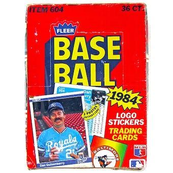 1984 Fleer Baseball Wax Box