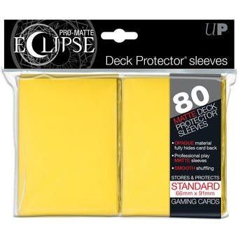 Ultra Pro Pro Matte Eclipse Deck Protector Sleeves - Yellow (80 Ct.)