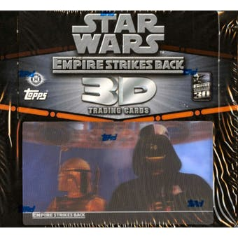 Star Wars Empire Strikes Back 3D Trading Cards Hobby Box (2010 Topps)