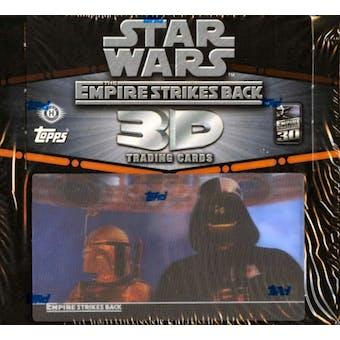 Star Wars Empire Strikes Back 3D Trading Cards Hobby Box (2010 Topps)