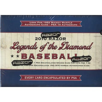 2010 Razor Legends of the Diamond Baseball Hobby Box