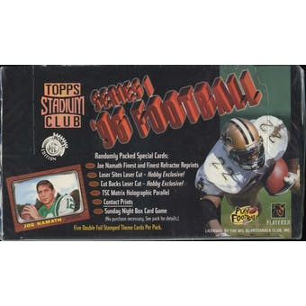 1996 Topps Stadium Club Series 1 Football Jumbo Box