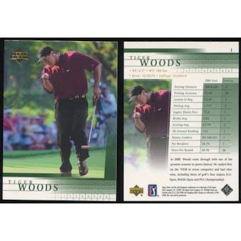 2001 Upper Deck Golf #1 Tiger Woods RC