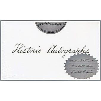 2010 Historic Autographs HOF & All-Star Edition Baseball Hobby Box