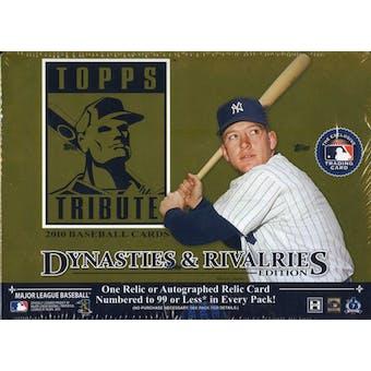 2010 Topps Tribute Baseball Hobby Box