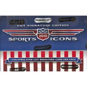 2010 Leaf Sports Icons Cut Signature Edition Hobby Box