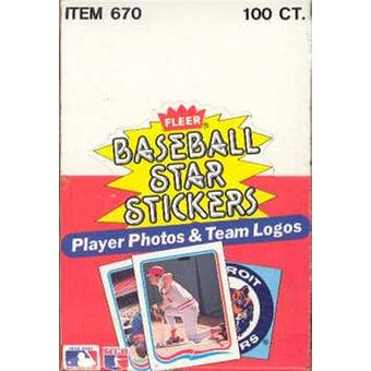 1985 Fleer Baseball Star Stickers Wax Box