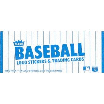 1985 Fleer Baseball Vending 24-Box Case