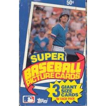 1985 Topps Super Baseball Wax Box
