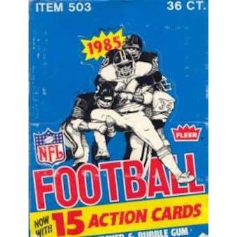 1985 Fleer in Action Football Wax Box
