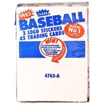 1985 Fleer Baseball Rack Box
