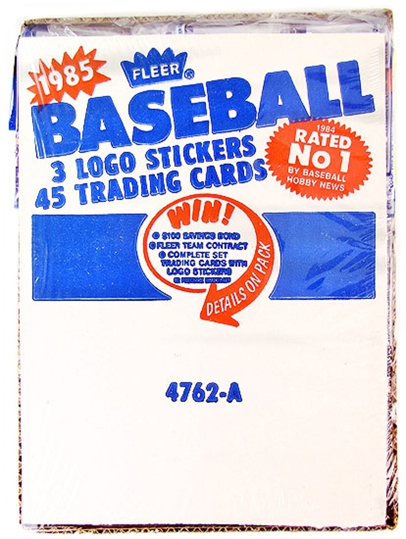 1985 Fleer Baseball Rack Box Da Card World