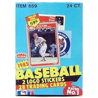 1985 Fleer Baseball Cello Box