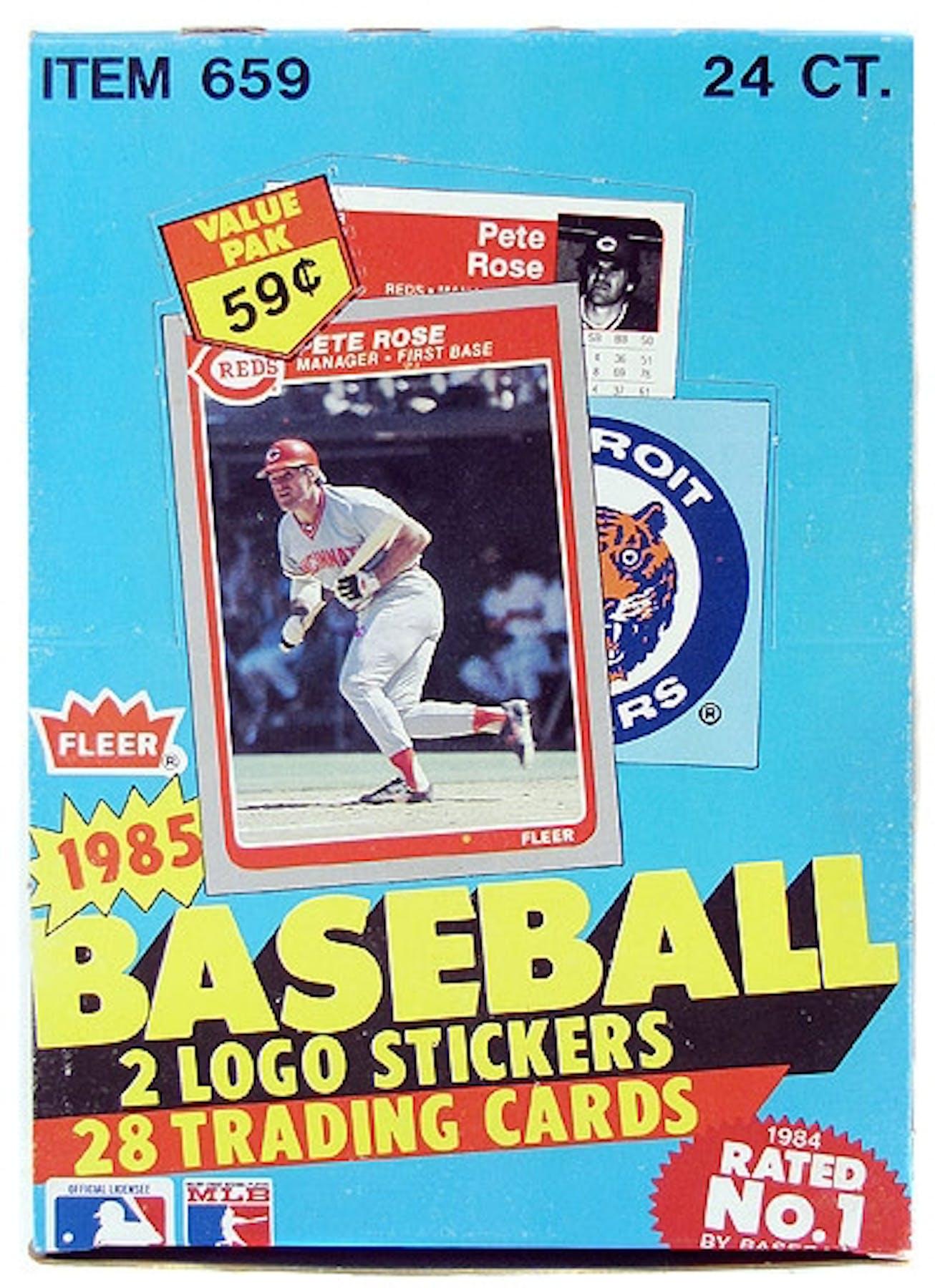 1985 Fleer Baseball Cello Box Da Card World