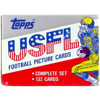 1985 Topps USFL Football Factory Set