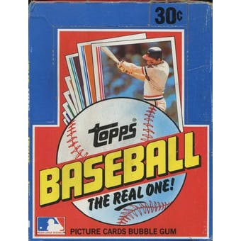 1982 Topps Baseball Wax Box