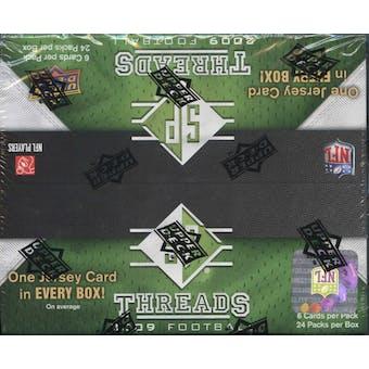 2009 Upper Deck SP Threads Football 24-Pack Box
