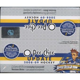 2008/09 Upper Deck O-Pee-Chee Update Hockey 24-Pack Box
