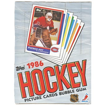 1986/87 Topps Hockey Wax Box