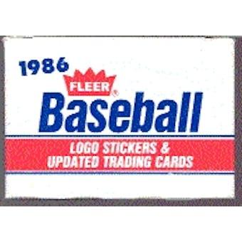 1986 Fleer Update Baseball Factory Set