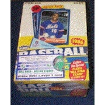 1986 Fleer Baseball Cello Box