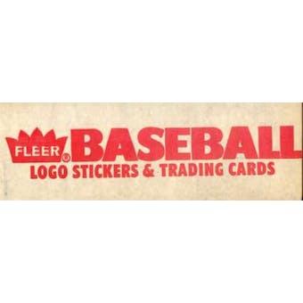 1986 Fleer Baseball Factory Set