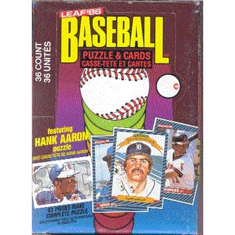 1986 Leaf Baseball Wax Box