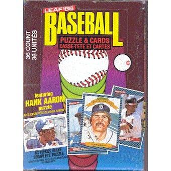 1986 Leaf Baseball Wax Box