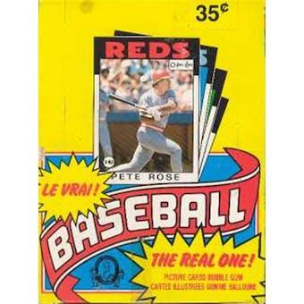 1986 O-Pee-Chee Baseball Wax Box