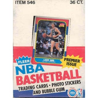 1986/87 Fleer Basketball Wax Box