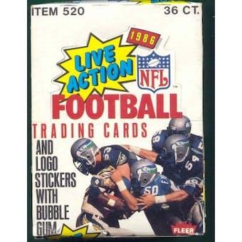1986 Fleer Football in Action Wax Box
