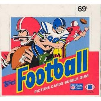 1986 Topps Football Cello Box