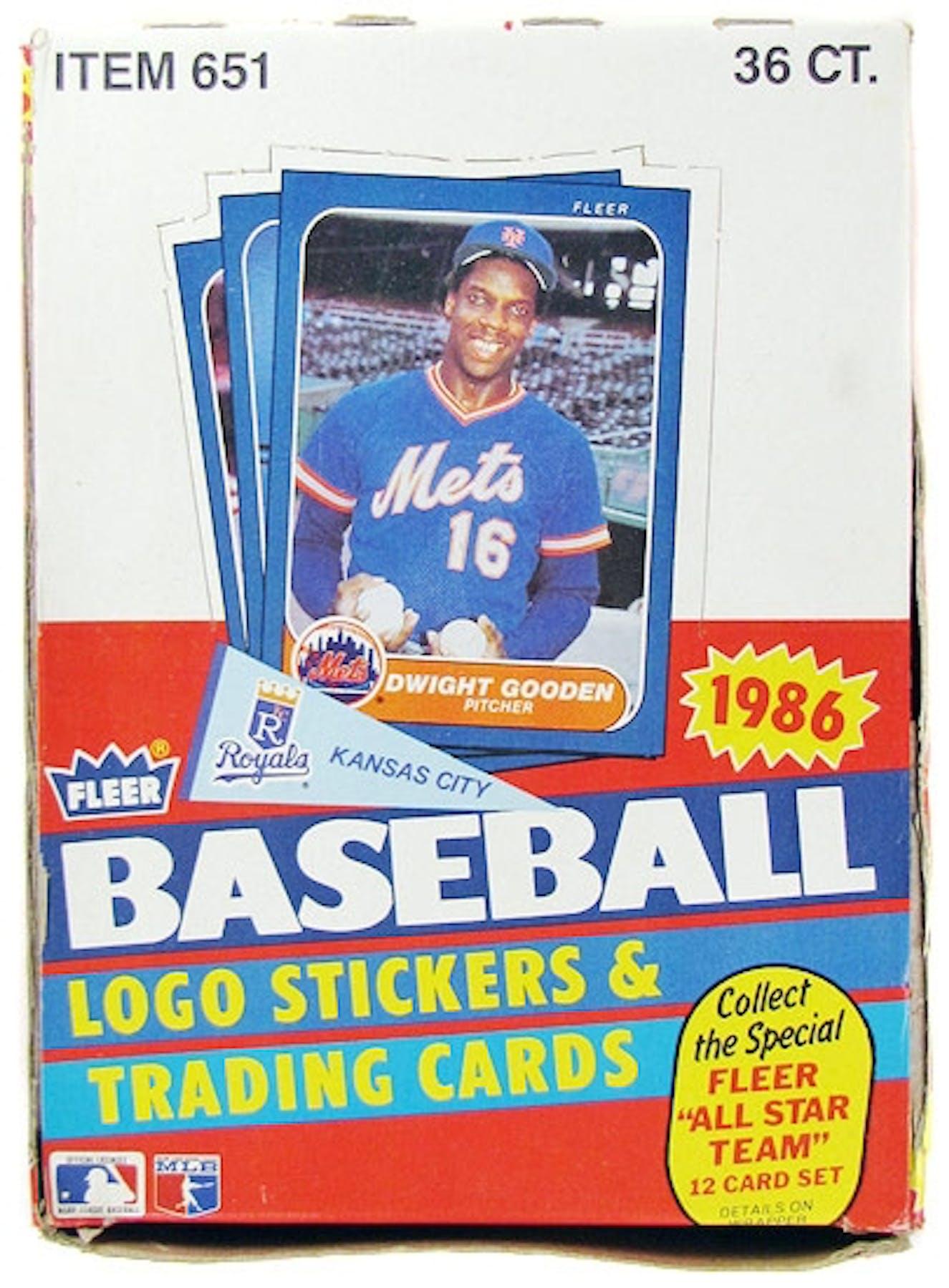 1986 Fleer Baseball Wax Box Da Card World