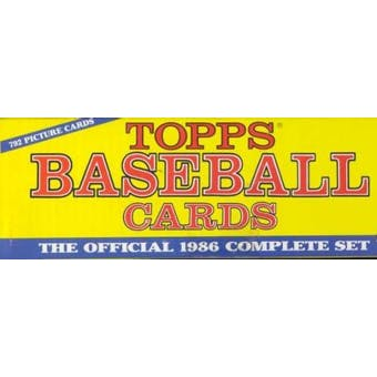 1986 Topps Baseball Factory Set (Christmas Set)