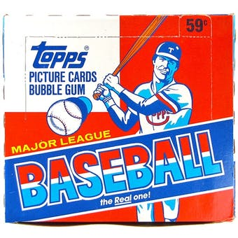 1986 Topps Baseball Cello Box