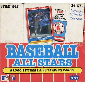 1987 Fleer All Stars Baseball Factory Set Box
