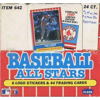 1987 Fleer All Stars Baseball Factory Set Box