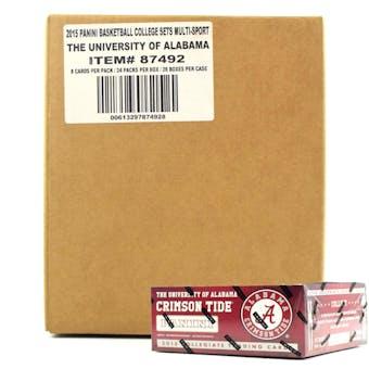 2015 Panini Alabama Crimson Tide Multi-Sport 24-Pack 20-Box Case