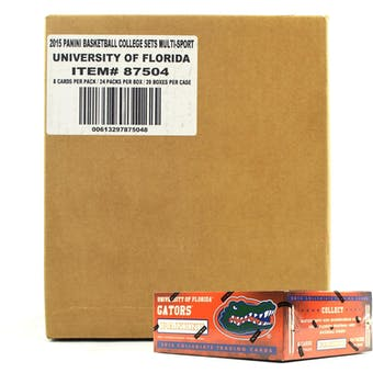 2015 Panini Florida Gators Multi-Sport 24-Pack 20-Box Case