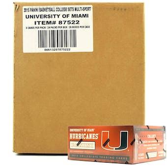 2015 Panini Miami Hurricanes Multi-Sport 24-Pack 20-Box Case